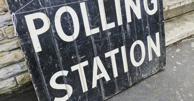 Polling station notice